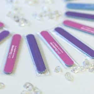 Розовые мини пилочки Про Педикюр 100/180 грит в упаковке