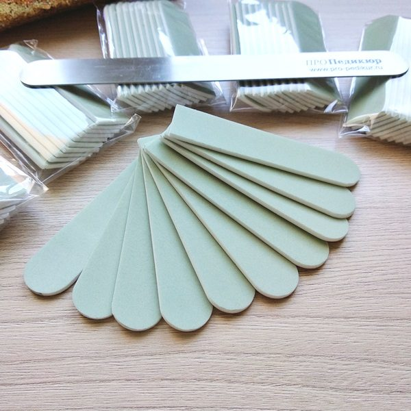 Бафф 600 грит для полировки для ногтей на пилку 18 см, (матовый)