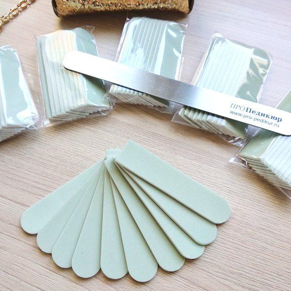 Бафф 600 грит для полировки для ногтей - сменный абразив на пилку 18 см, (матовый)