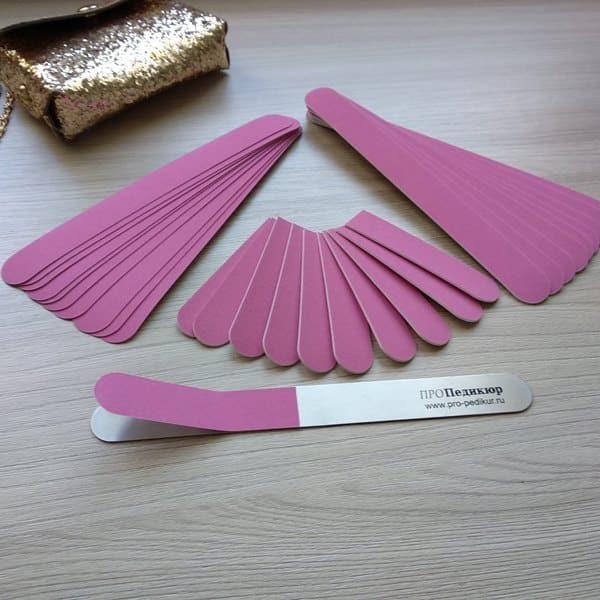 Розовые сменные абразивы для маникюра 180грит