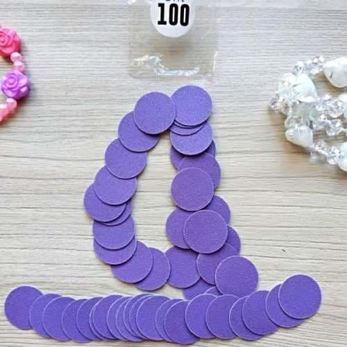 100 грит сменные диски для педикюра, размер М, от производителя премиум качество, ПРОПедикюр