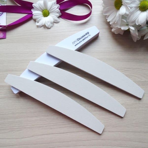Белые файлы для пилочного маникюра, 150 грит, не травмируют кожу. Идеальная крошка ПРОПедикюр