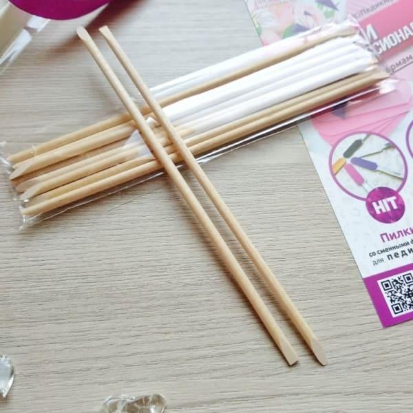 палочки для ногтей деревянные