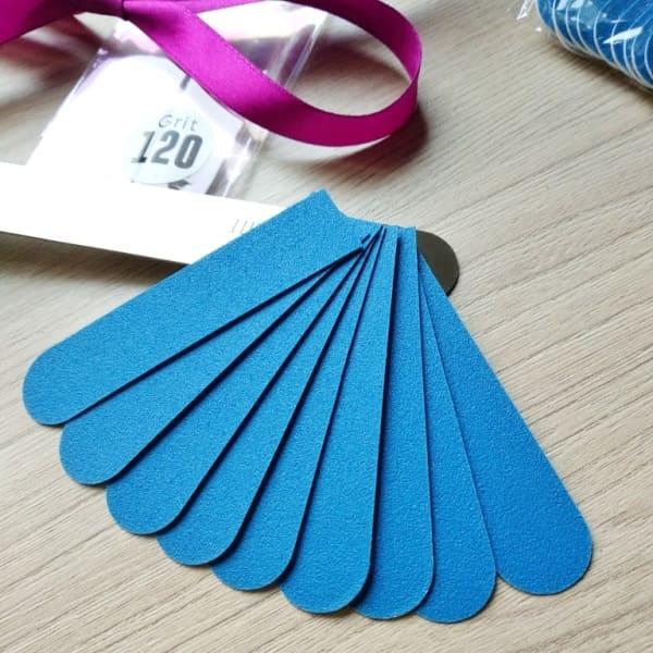 Сменные файлы 120 грит синие тонкие 8 см ПРОПедикюр