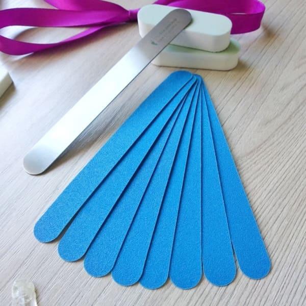 120 грит сменные накладки на пилку из нержавеющей стали для ногтей 13,5 см